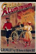Vintage French bicycles poster - cycles aluminium
